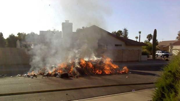 garbagetrucktrashfire