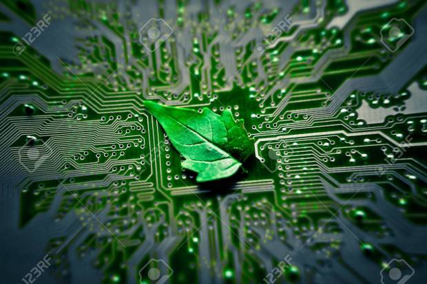 27216107-green-leaf-on-computer-circuit-board-green-it-green-computing-stock-photo